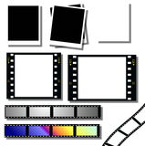 film strip and instant photo frames Royalty Free Stock Photo
