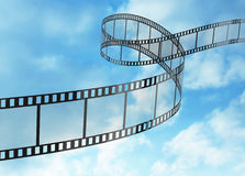 Film Strip. Isolated on the blue Royalty Free Stock Photos