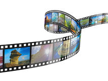 Film Strip. Isolated on the white Royalty Free Stock Photos