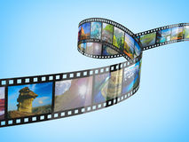 Film Strip. Isolated on white Royalty Free Stock Images