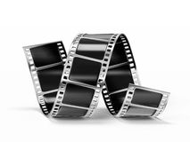 Film strip. Isolated on a white background Royalty Free Stock Photos