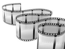 Film strip. Isolated on white background Stock Images