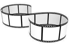 Film strip isolated with white background. Culved Film strip isolated with white background Royalty Free Stock Photos