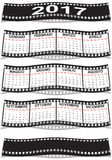 Film strip Italian calendar 2017. Graphic illustration of the Italian calendar 2017 Royalty Free Stock Photos