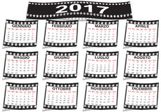 Film strip Italian calendar 2017. Graphic illustration of the Italian calendar 2017 Stock Image