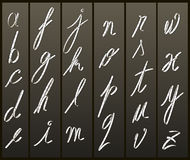 Film strip letters -lower case Stock Images