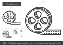 Film strip line icon. Royalty Free Stock Image