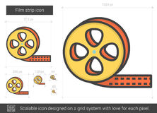Film strip line icon. Film strip vector line icon isolated on white background. Film strip line icon for infographic, website or app. Scalable icon designed on Stock Photos