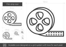 Film strip line icon. Stock Photos