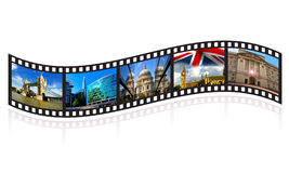 Film strip of London tourist icons Stock Photo