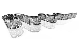 Film strip media concept image royalty free illustration