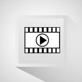 Film strip and movie design. Film strip icon. Cinema movie video and film theme. Grey design. Vector illustration Stock Photo