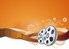 Film strip,movie theme element Royalty Free Stock Photos