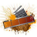 Film strip,movie theme element. Elements of the film theme, beautiful floral background Stock Image