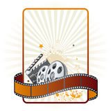 Film strip,movie theme element. Elements of the film theme Royalty Free Stock Image
