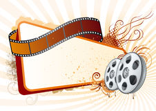 Film strip,movie theme element. Design element for movie theme Royalty Free Stock Photography