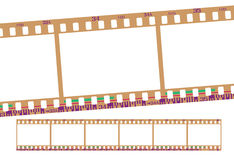 Film strip, negative Royalty Free Stock Images