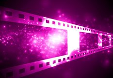 Film strip. Negative film strip on a dark background Royalty Free Stock Photo