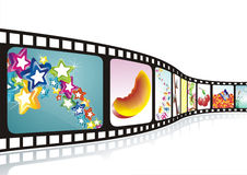 A film strip. With nice pictures Royalty Free Stock Image