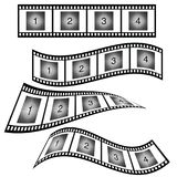 Film strip with number illustration. Film strip with number vector illustration on white Stock Illustration