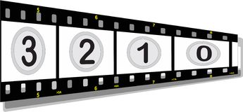 Film strip with numbers Royalty Free Stock Image