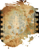 Film strip. Old film strip with some damage on it Stock Photo