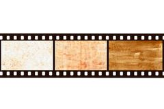 Film strip with paper Royalty Free Stock Photos
