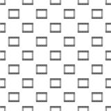 Film strip pattern, simple style. Film strip pattern. Simple illustration of film strip vector pattern for web Stock Images