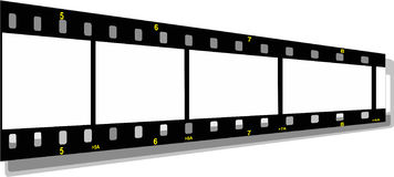 Film strip perspective Stock Photos