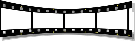 Film strip perspective  back. Illustration of a film strip perspective  back Royalty Free Stock Photo