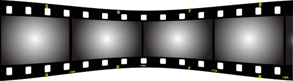 Film strip perspective  back. Illustration of a film strip perspective back Stock Images