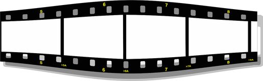 Film strip perspective  front. Illustration of a film strip perspective  front Stock Image