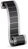Film strip for photo or video on white background Royalty Free Stock Photo