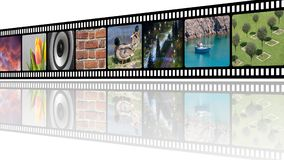 Film strip with photos collage illustration with empty copy space. For your text Stock Images