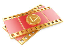 Film strip with a play button Stock Image
