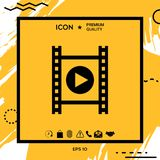 Film strip with play. Element for your design Royalty Free Stock Photos