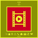 Film strip with play. Signs and symbols - graphic elements for your design Royalty Free Stock Photos