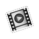 Film strip play movie image. Illustration eps 10 Royalty Free Stock Photography