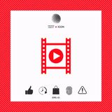 Film strip with play. Signs and symbols - graphic elements for your design Stock Image