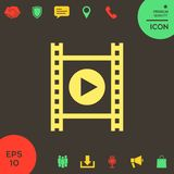 Film strip with play. Signs and symbols - graphic elements for your design Stock Photography