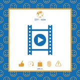 Film strip with play. Signs and symbols - graphic elements for your design Stock Photo
