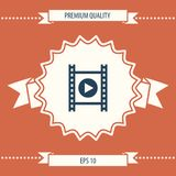 Film strip with play. Signs and symbols - graphic elements for your design Royalty Free Stock Photography