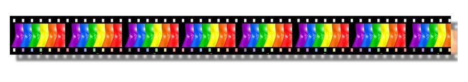 Film strip Pride. Pride colors in a film strip Royalty Free Stock Photo