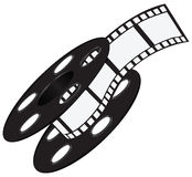 Film strip on the reel. Industrial wide film strip on the reel. Vector illustration stock illustration