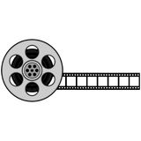 Film Strip and Reel. A vector illustration of a Film Strip Reel vector illustration