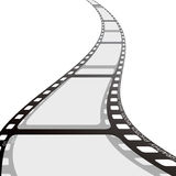 Film strip reel wave Stock Photos