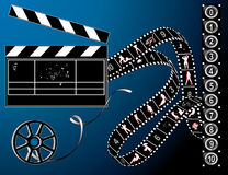 Film strip and retro reel Stock Image