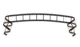 Film strip ribbon. Isolated on white background Stock Photos