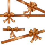 Film Strip Ribbon. Vector illustration of bow with film strip ribbon Stock Photography