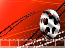 Film strip and roll. Cinema concept background Royalty Free Stock Images